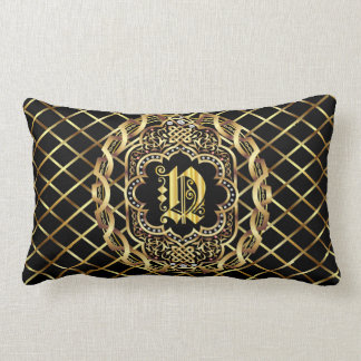 Monogram N IMPORTANT Read About Design Lumbar Pillow