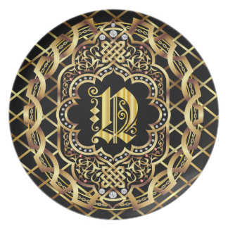 Monogram N IMPORTANT Read About Design Melamine Plate