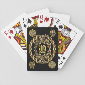 Monogram N IMPORTANT Read About Design Playing Cards