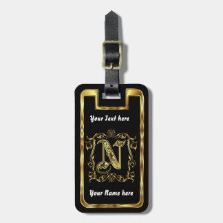 Monogram N One of a kind View notes please Travel Bag Tag