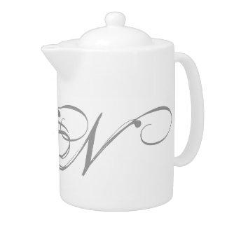 Monogram N Teapot