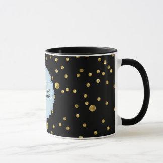 Monogram Name Isabella Black Ringer Mug