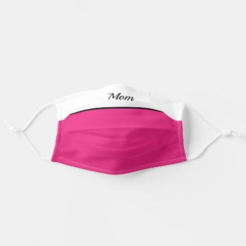 Monogram Name Mom  Pink Cloth Face Mask