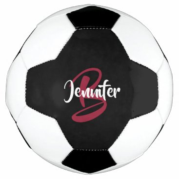 Monogram Name Personalized Soccer Ball