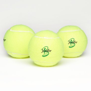 Monogram Name Personalized Tennis Balls