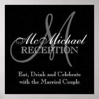 Monogram Name Wedding Reception Sign