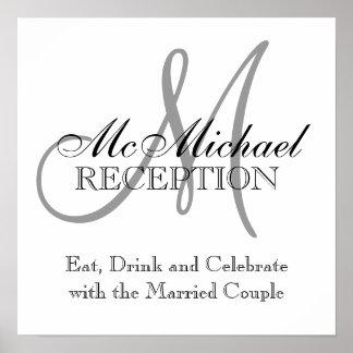 Monogram Name Wedding Reception Signs