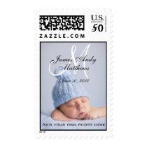 Monogram Names Boy New Baby Postage Stamps