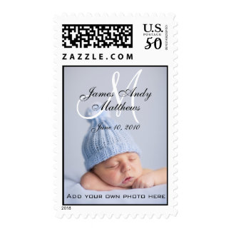 Monogram Names Boy New Baby Postage Stamps