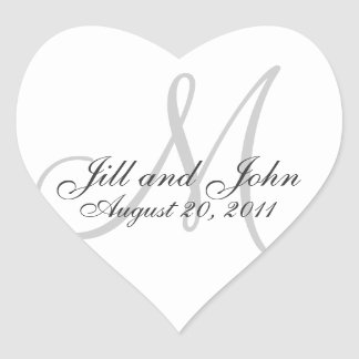 Monogram Names Date Wedding Seal Stickers