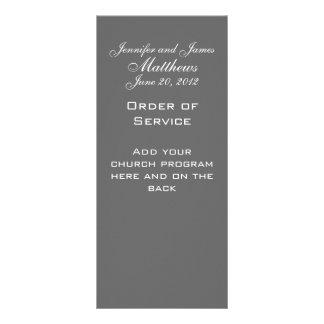 Monogram Names Date Wedding Service Church Program