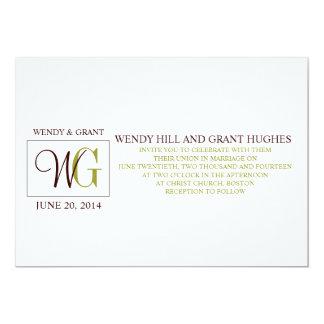 Monogram Names Logo Wedding Invitation