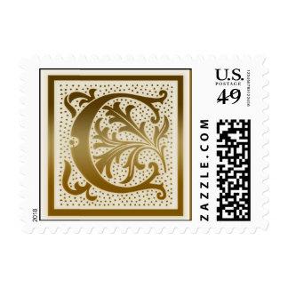 Monogram Nature Stamp  - c