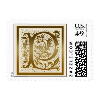Monogram Nature Stamp  - Initial P