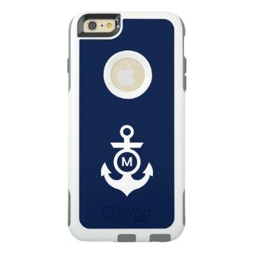 Beach Themed Monogram   Nautical Anchor OtterBox iPhone 6/6s Plus Case