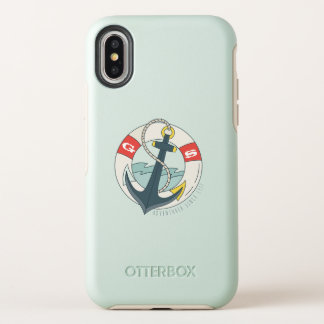 Monogram. Nautical Anchor Tattoo. OtterBox Symmetry iPhone X Case