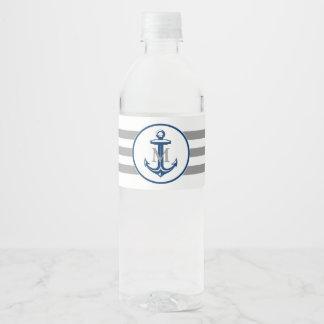 Monogram | Nautical Gift Water Bottle Label
