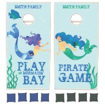 Monogram. Nautical. Mermaids' Bay. Pirates' Game. Cornhole Set