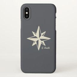 Monogram. Nautical. Star. iPhone X Case