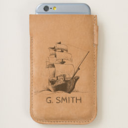Monogram. Nautical Theme Sketch. iPhone 6/6S Case