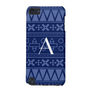 Monogram navy blue aztec pattern iPod touch 5G covers