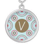 Monogram Necklace - Letter V