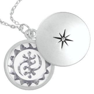 Monogram Necklace With Symbol Of God's Majesty