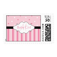 Monogram New Baby Girl Postage Stamps