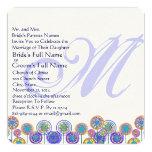 """Monogram New Sizes Square Fun Wedding Invitation 5.25"""" Square Invitation Card"""