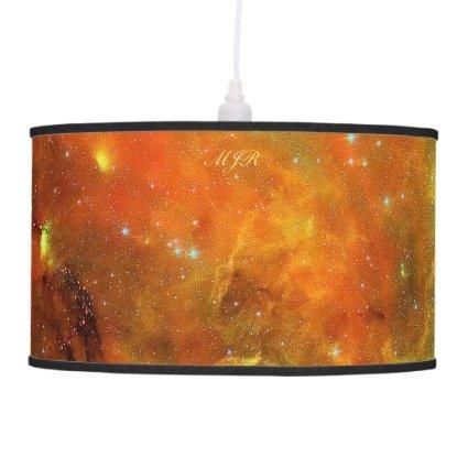 Monogram: North American and Pelican Nebulae Hanging Lamp
