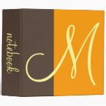 Monogram notebook binders