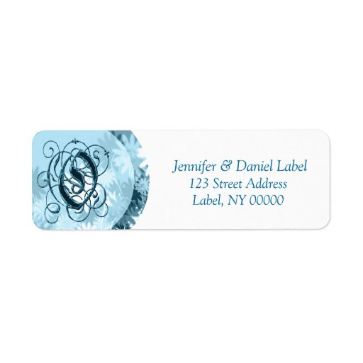 monogram o address labels discount zazzle With discount address labels