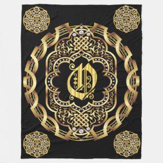 Monogram O CUSTOMIZE To Change Background Color Fleece Blanket