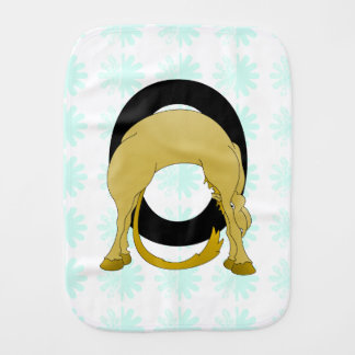 Monogram O Flexible Pony Personalised Baby Burp Cloth