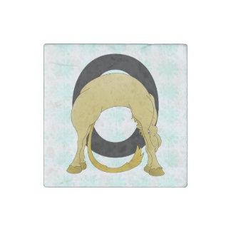 Monogram O Flexible Pony Personalised Stone Magnet