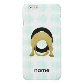 Monogram O Flexible Pony Personalised Glossy iPhone 6 Case