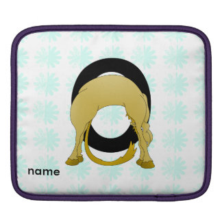Monogram O Flexible Pony Personalised iPad Sleeve