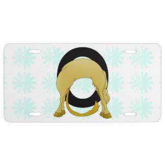 Monogram O Flexible Pony Personalised License Plate