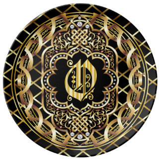 Monogram O IMPORTANT Read About Design Dinner Plate