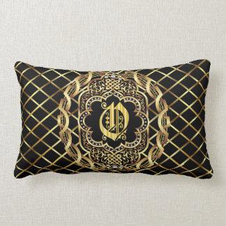 Monogram O IMPORTANT Read About Design Lumbar Pillow