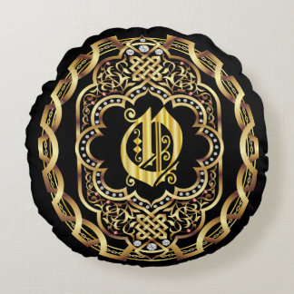 Monogram O IMPORTANT Read About Design Round Pillow