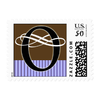 Monogram O Postage -- Pick Your Own Color!