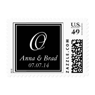 Monogram O Wedding Postage Stamps