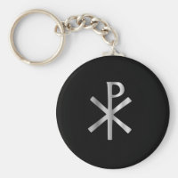 Monogram of Christ - chi rho Keychain