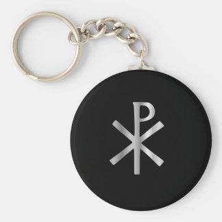 Monogram of Christ - chi rho Keychain