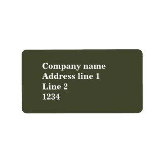 Monogram olive green stripes label