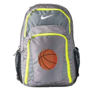 Beach Themed Monogram on Basketball. Your Official Backpack