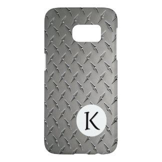 Monogram on Diamond Metal Background Samsung Galaxy S7 Case