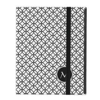 Monogram on Elegant Abstract Pattern iPad Cover