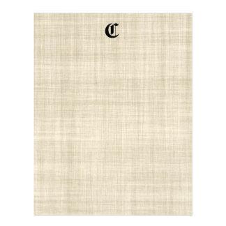 Monogram On Linen Look Paper Background Flyer